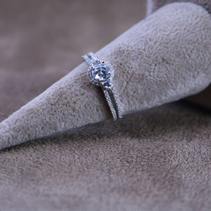 4/3 ct.tw Halo Wedding Ring Deco Ring Engagement